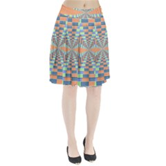 Fabric 3d Color Blocking Depth Pleated Skirt