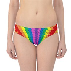 Rainbow Hearts 3d Depth Radiating Hipster Bikini Bottoms