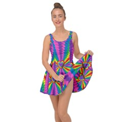 Rainbow Hearts 3d Depth Radiating Inside Out Dress