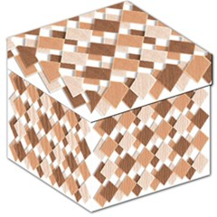 Fabric Texture Geometric Storage Stool 12
