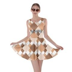 Fabric Texture Geometric Skater Dress