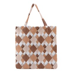 Fabric Texture Geometric Grocery Tote Bag