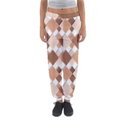 Fabric Texture Geometric Women s Jogger Sweatpants
