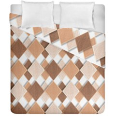 Fabric Texture Geometric Duvet Cover Double Side (california King Size)