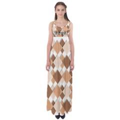 Fabric Texture Geometric Empire Waist Maxi Dress