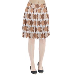 Fabric Texture Geometric Pleated Skirt