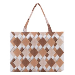 Fabric Texture Geometric Medium Tote Bag