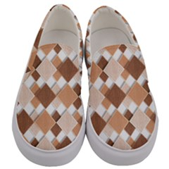 Fabric Texture Geometric Men s Canvas Slip Ons