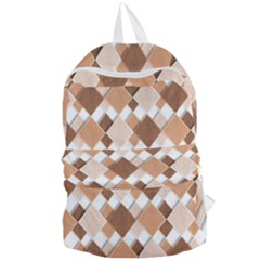 Fabric Texture Geometric Foldable Lightweight Backpack