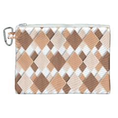 Fabric Texture Geometric Canvas Cosmetic Bag (xl) by Nexatart