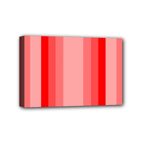 Red Monochrome Vertical Stripes Mini Canvas 6  X 4
