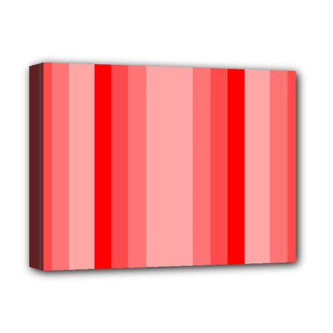 Red Monochrome Vertical Stripes Deluxe Canvas 16  X 12