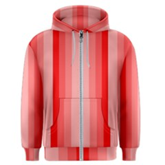 Red Monochrome Vertical Stripes Men s Zipper Hoodie