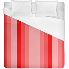 Red Monochrome Vertical Stripes Duvet Cover (king Size)
