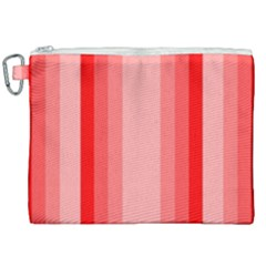 Red Monochrome Vertical Stripes Canvas Cosmetic Bag (xxl) by Nexatart