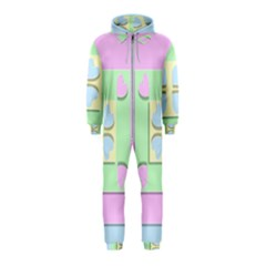 Hearts 3d Decoration Design Love Hooded Jumpsuit (kids)