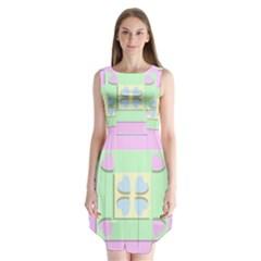 Hearts 3d Decoration Design Love Sleeveless Chiffon Dress