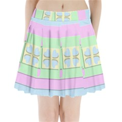 Hearts 3d Decoration Design Love Pleated Mini Skirt