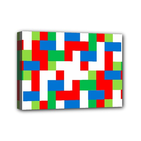 Geometric Maze Chaos Dynamic Mini Canvas 7  X 5