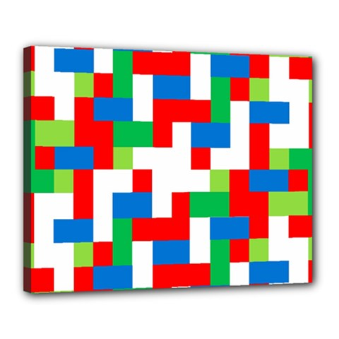 Geometric Maze Chaos Dynamic Canvas 20  X 16
