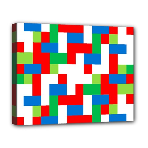 Geometric Maze Chaos Dynamic Deluxe Canvas 20  X 16