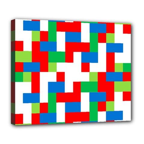 Geometric Maze Chaos Dynamic Deluxe Canvas 24  X 20