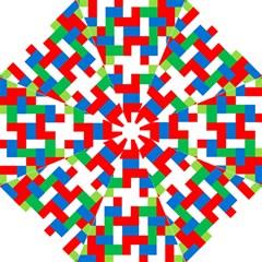 Geometric Maze Chaos Dynamic Hook Handle Umbrellas (large)