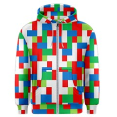 Geometric Maze Chaos Dynamic Men s Zipper Hoodie
