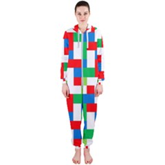 Geometric Maze Chaos Dynamic Hooded Jumpsuit (ladies)