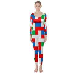 Geometric Maze Chaos Dynamic Long Sleeve Catsuit