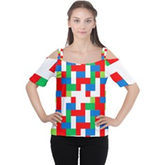 Geometric Maze Chaos Dynamic Cutout Shoulder Tee