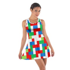 Geometric Maze Chaos Dynamic Cotton Racerback Dress