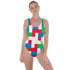 Geometric Maze Chaos Dynamic Bring Sexy Back Swimsuit