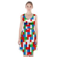 Geometric Maze Chaos Dynamic Racerback Midi Dress