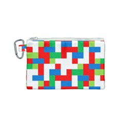 Geometric Maze Chaos Dynamic Canvas Cosmetic Bag (small) by Nexatart
