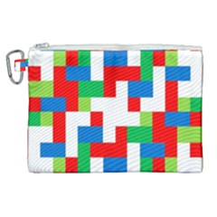 Geometric Maze Chaos Dynamic Canvas Cosmetic Bag (xl) by Nexatart