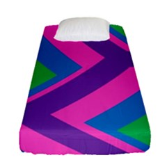 Geometric Rainbow Spectrum Colors Fitted Sheet (single Size) by Nexatart
