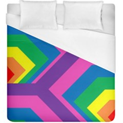 Geometric Rainbow Spectrum Colors Duvet Cover (king Size)