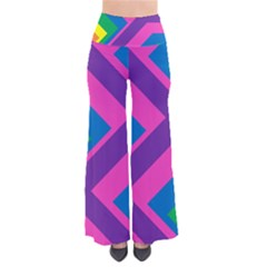 Geometric Rainbow Spectrum Colors Pants by Nexatart