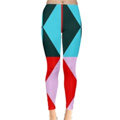 Geometric Pattern Design Angles Leggings