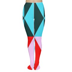 Geometric Pattern Design Angles Women s Tights