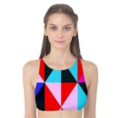 Geometric Pattern Design Angles Tank Bikini Top