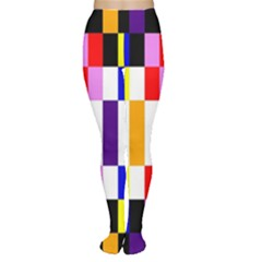 Rainbow Color Blocks Red Orange Women s Tights