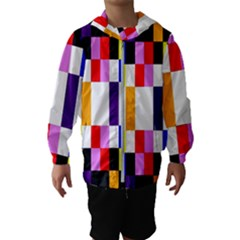 Rainbow Color Blocks Red Orange Hooded Wind Breaker (kids)
