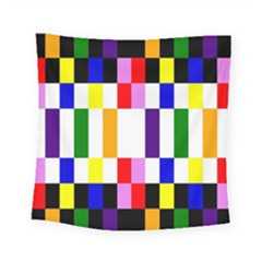 Rainbow Color Blocks Red Orange Square Tapestry (small) by Nexatart