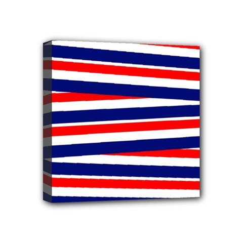 Red White Blue Patriotic Ribbons Mini Canvas 4  X 4