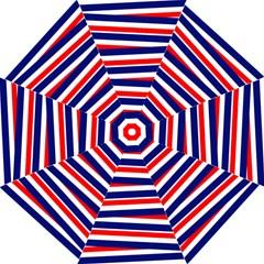 Red White Blue Patriotic Ribbons Folding Umbrellas by Nexatart