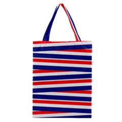 Red White Blue Patriotic Ribbons Classic Tote Bag