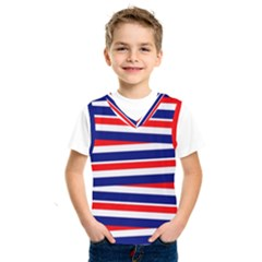 Red White Blue Patriotic Ribbons Kids  Sportswear