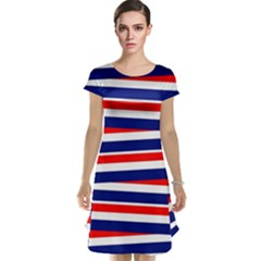 Red White Blue Patriotic Ribbons Cap Sleeve Nightdress